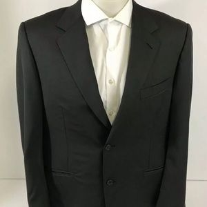 Canali 100% Pure Wool Dark Olive Blazer Made Italy